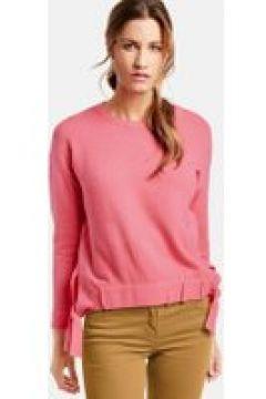 Sweter z marszczonymi tasiemkami Różowy 48/XL(115897117)