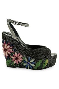 Vario Kadın Siyah Dolgu Topuklu Ayakkabı(124470890)