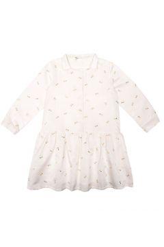 Kleid aus Baumwoll-Jacquard mit Seide und Schleifen aus Lurex(113612330)