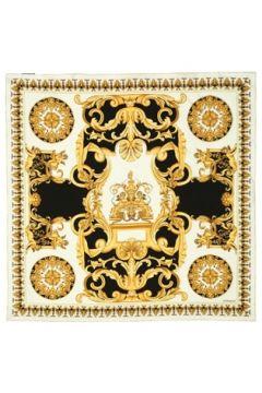 Versace Kadın Gold Siyah Desenli İpek Eşarp EU(121159609)