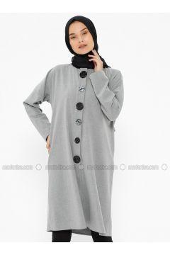 Gray - Polo neck - Tunic - NZL(110322295)