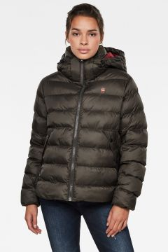 G-Star RAW Women Whistler Hooded Puffer Jacket Grey(121096100)