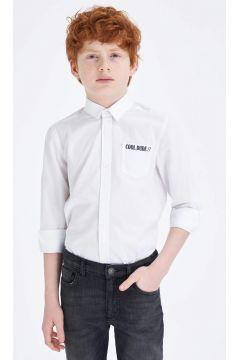 DeFacto Erkek Çocuk Smart Kolları Katlanabilir Gömlek(119060537)