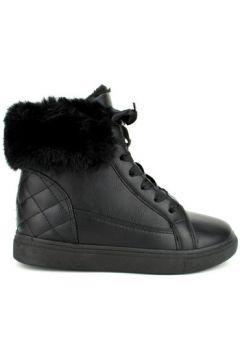 Chaussures Cendriyon Baskets Noir Chaussures Femme(115425462)