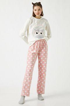 Koton Kadın Slogan Polar Pijama Takimi(127013123)