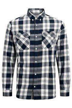 JACK & JONES Hantverkarinspirerad Skjorta Man Blå(112240249)