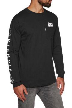 Rip N Dip Lord Nermal Pocket Langarm-T-Shirt - Black(107851600)