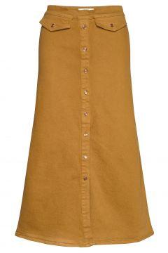 Astridgz Long Skirt Langes Kleid Gelb GESTUZ(117082576)