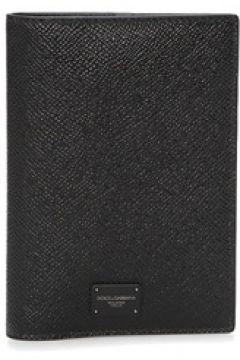 Dolce&Gabbana Erkek Siyah Logolu Deri Pasaportluk EU(120673146)