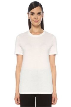 Tru Kadın Beyaz Bisiklet Yaka T-shirt XS EU(118369856)