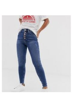River Island Petite - Enge Jeans in dunkler Waschung - Blau(95027048)