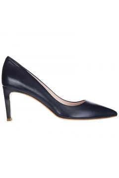 Women's leather pumps court shoes high heel(118072670)