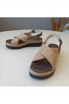 SMS Bayan 22107 Keten Sandalet(124526073)