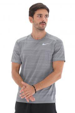 Nike M Nk Dry Mıler Top Ss Erkek T-Shirt Gri(127364376)