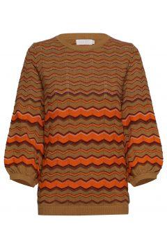 Knit In Multi Color W. Volume Sleev Strickpullover Braun COSTER COPENHAGEN(113865581)