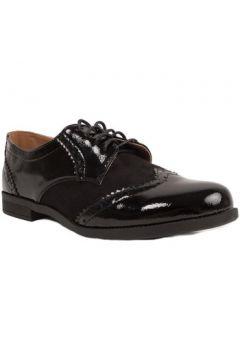 Chaussures Primtex Derbies grande taille synthétique verni et daim(115468801)