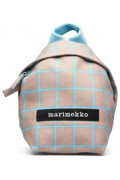 Hento Iso Ruutu Backpack Bags Backpacks Fashion Backpacks Beige MARIMEKKO(117871523)