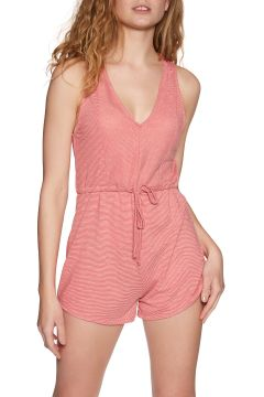 Playsuit Femme RVCA Righteous Romper - Pompei Red(111333185)