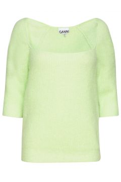 Soft Wool Knit Strickpullover Grün GANNI(119232722)