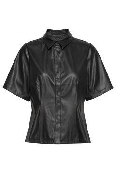 New Skin Shila Blouses Short-sleeved Schwarz MADS NØRGAARD(109013554)
