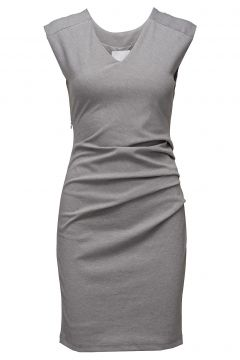 India V-Neck Dress Kleid Knielang Grau KAFFE(109243231)