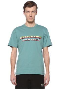 Billionaire Boys Club Erkek Gradient Graphic Yeşil Logolu Basic T-shirt S EU(108579545)
