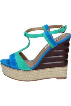 Sandales Emanuélle Vee sandales bleu daim vert BY142(115400958)