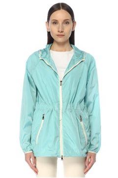 Moncler Kadın Mavi Kapüşonlu Yağmurluk 4 US(114438246)