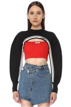 Gcds Kadın Siyah Kesim Detaylı Sweatshirt XS EU(113468165)