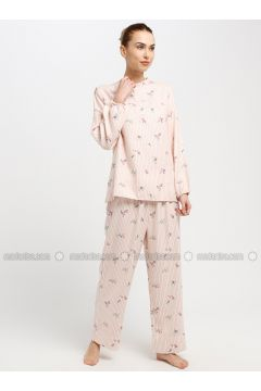 Powder - Button Collar - Stripe - Pyjama - Akel(110331051)