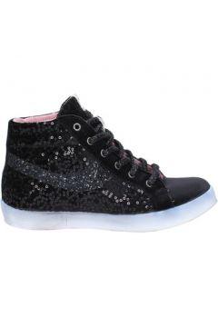 Chaussures Fiori Di Picche sneakers noir velours paillettes BX345(98483915)