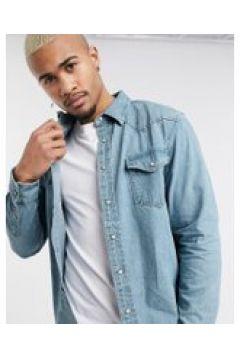 Pull&Bear - Camicia di jeans stile western blu medio(120254764)