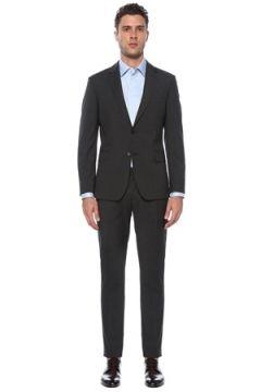 Network Erkek Slim Fit Drop 6 Antrasit Yün Takım Elbise Gri 46-6N EU(117771753)