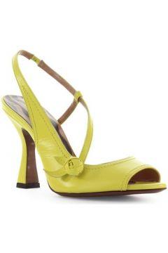 Sandales L\'autre Chose Sandale Slingback En Cuir Jaune(127904569)
