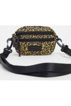 Consigned - Borsa a tracolla leopardata con doppia zip-Multicolore(120399376)