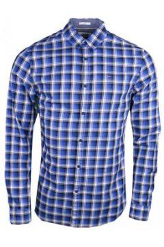 Chemise Tommy Jeans Chemise à carreaux bleu slim fit pour homme(115400303)