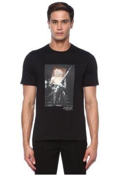 Neil Barrett Erkek Siyah Fotoğraf Baskılı T-shirt S EU(118214585)