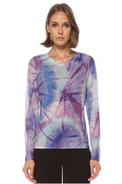Ryder Act Kadın Mavi Batik Desenli Uzun Kol Tül Body M/L EU(122382481)