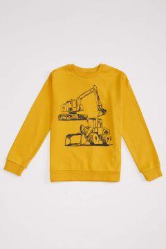 DeFacto Erkek Çocuk İş Makinesi Baskılı Sweatshirt(125928589)