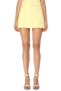 Faithfull The Brand Kadın Celia Sarı Kemer Detaylı Mini Keten Etek XS EU(119229997)