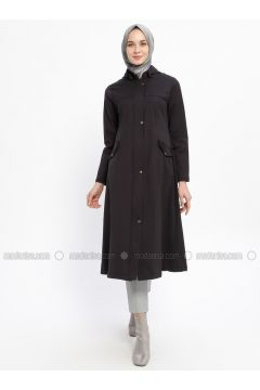 Black - Fully Lined - Crew neck - Acrylic - Topcoat - Night Blue Collection(110331453)