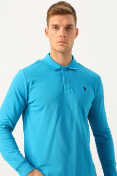 U.S. Polo Assn. Polo Yaka Turkuaz Sweatshirt(120673716)