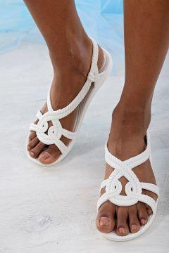 Ayakkabı Modası Beyaz Kadın Sandalet(121631121)