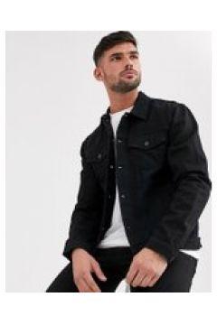New Look - Giacca di jeans vestibilità classica nero slavato(120240002)