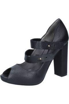 Chaussures escarpins Le Marrine escarpins noir cuir BY730(115401483)