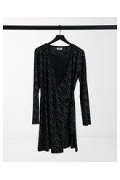 Elvi - Vestito nero brillante(124802031)