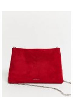 Karen Millen - Brompton - Borsa a tracolla in camoscio rosso rossetto(120397784)