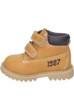 Boots enfant Asso bottines jaune cuir BT323(115442789)