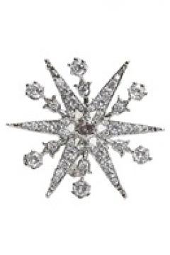 Beymen Collection Kadın Silver Yıldız Formlu Taşlı Broş Gri EU(121159522)