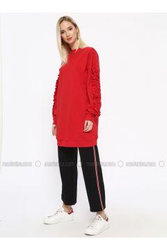 Cotton - Crew neck - Red - Sweat-shirt - Missemramiss(110330939)